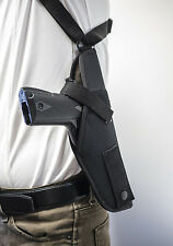 """Colt New Agent 1911 3"""" 45ACP   Vertical Shoulder Holster w/ Double Mag Pouch"""