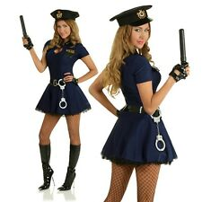 Police Officer Woman Costume Role Play Cop Uniform Fancy Dress Hens Party Outfit