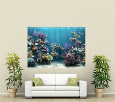 Fish Tank Aquarium Giant 1 Piece  Wall Art Poster AN104
