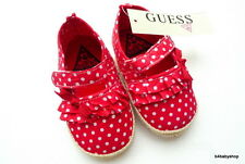 NEW baby girl red polka dot ruffle mary jane soft soles shoes 0-6M 6-12M 3 sizes