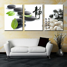 Zen Stone/Calm ready to hang 3 panel mounted picture/betterThan stretched canvas