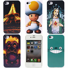 Glow Night Eiffel Tower Dolls Image Hard Back Protect Case Cover for iPhone 4 4S