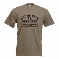 Art of War T Shirt - Funny T-Shirt retro Afghanistan fashion graduate USA battle