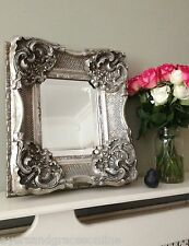 ORNATE ANTIQUE FRENCH STYLE GOLD SILVER IVORY MIRROR