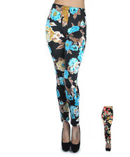 Soho Women's Exotic Floral Print Leggings (L8829)