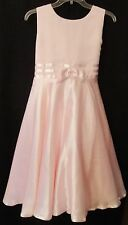 Peachy Kid's  79719  Pink Dress Satin  Ribbon Trimmed Girl's Plus Size 14.5  NWT