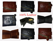 MENS HIGH QUALITY LUXURY SOFT BLACK LEATHER WALLET GENUINE LEATHER
