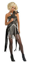 Lady Gaga Star Dress Sequin Pop Rock Fancy Dress Up Halloween Adult Costume