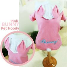 Luxury Pet Apparel- Pink Bunny Rabbit Hoodie Small-XLarge Cute Clothes Dress