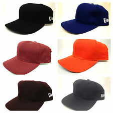 Vintage Deadstock New Era Blank Plain Snapback Hat Cap Many Colors Logo Flag