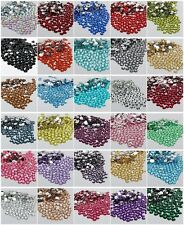 1000 sparkling Resin Rhinestone Flatback Crystal 2/3/4/5/6MM 14 Facets SZ01