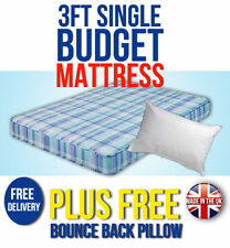 BUDGET MATTRESS 3FT SINGLE CHEAP MATTRESSES WITH FREE PILLOW & EXPRESS DELIVERY