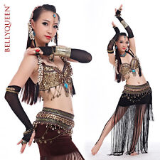 Tribal Professional Belly Dance Costumes Outfit Set 2Pics Bra Belt 6colors