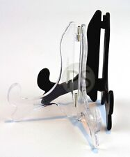 "Classic Display Stand /Easel - Black & Clear :10cm-45cm, 4"" to 18"" :Plate, Photo"