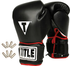 Title Power Weighted Super Bag Gloves mma muay thai boxing training gear
