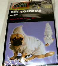 NEW DOG SIZE SMALL OR MEDIUM HALLOWEEN PET COSTUME GHOST