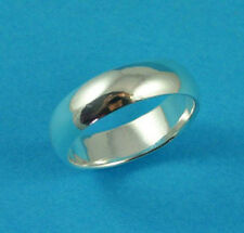 New Sterling Silver D Shaped Heavy Wedding Band Ring 925 Hallmarked 8mm UK Sizes