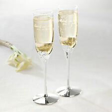 Lenox True Love Wedding Champagne Toasting Flutes Pair + Option to Personalize