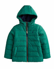 *BNWT* Little Joules Jnr Marland Boys Padded Hooded Coat - Green - NEW FOR AW13