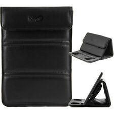 "Kroo Black Convertible Travel Stand Guard Slim Carrying Cover for 7"" Tablets"
