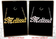 Name Necklace MELISSA 18k Gold Plated Personalized Gifts Fashion Jewelry