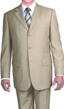 Men's high quality 3 button wool feel wool look business suit Milano Moda 5802