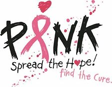 Breast Cancer Awareness T-Shirt Spread The Hope Tee Womens Tshirt Find A Cure