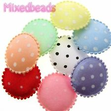 "*U PICK* 80-100 Big Round Satin Polka Dot 7/8"" applique padded hair fabric dot"