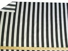 Black and White Striped Charmeuse Satin By The Yard