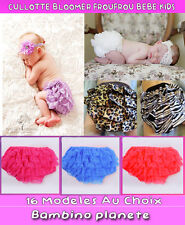CULOTTE COUVRE COUCHE BLOOMER BEBE FILLE DIAPER COVER BABY GIRL VERY BEAUTY NEW
