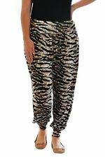 Womens Leggings Ladies Animal Tiger Ali Baba Harem Trousers Nouvelle Plus Size