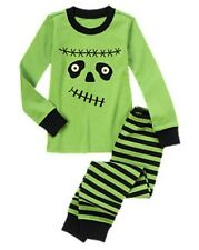 NWT Gymboree Frankenboy Monster Gymmies Sleep Set Pajamas PJs NEW Halloween Shop