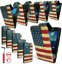RETRO U.S UNITED STATES OF AMERICA PU LEATHER FLIP CASE COVER FOR MOBILE PHONES