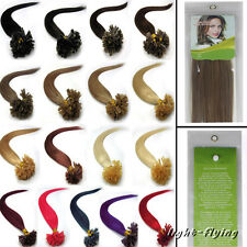 """20"""" 22"""" Pre Nail -U shape tip straight human hair extensions 17 colors styled"""