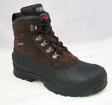 "Men's Winter Boots Leather 6"" Insulated Waterproof Hiking Snow Shoes Size:6.5-13"