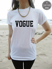 * VOGUE Fashion T-shirt Top Retro Hipster PARIS LONDON Homies Rhianna Fresh 90s*