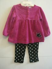 NEW W/T FISHER-PRICE GIRLS 2 PC PANT OUTFIT 12M, 18M
