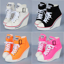Wedges Trainers Heels Sneakers Platform High Top Ankles Boots Shoes 777 one band