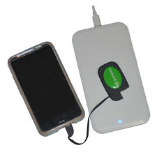 Qi Wireless Charging Pad Mat + Key Chain Receiver for Android Micro USB Phone