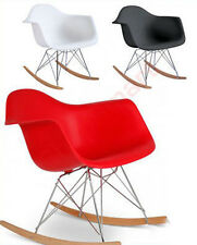 WHITE CHARLES EAMES INSPIRED RAR RETRO LOUNGE WING ROCKER ROCKING CHAIR ARMCHAIR