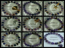 8mm PURPLE DRAGON VEINS AGATE BEADED STRETCH BRACELET ~ SILVER ~ GOLD ~ SPACERS