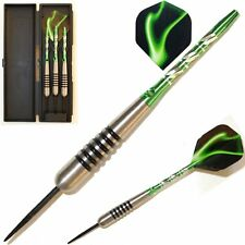 DARTS - 22,24,26,28, or 30g,GREEN PALLAS  NODOR TUNGSTEN DART SET. As Pictured