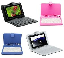 """7"""" Android Tablet PC USB PU Leather Keyboard Case Stand Tesco Hudl 2"""