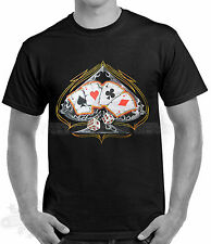 BIKER,TATTOO,ROCKABILLY,T SHIRT,ACE`S CARDS,all sizes available