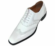 Bolano Mens Classic Smooth Dress Shoe w/Wing-Tip & Perforated Detail: Bowman-007