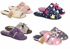 Ladies slippers slip on shoes mules womens girls  bed slippers size 3 4 5 6 7 8