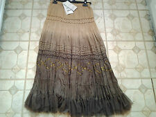 Phool 8 tiered broomstick skirt fully elasticated waist fully lined crincled