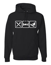 Eat Sleep Surf Hoodie Sweatshirt for surfing Surfer SUP w/Free Sticker FREE S&H!