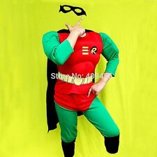 Muscle Batman Robin Superhero Kids Outfit Halloween Boys Fancy Costume Years 2/3