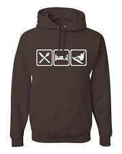 Eat Sleep Snowboard Hoodie Sweatshirt for Snowboarder w/Free Sticker! FREE S&H!